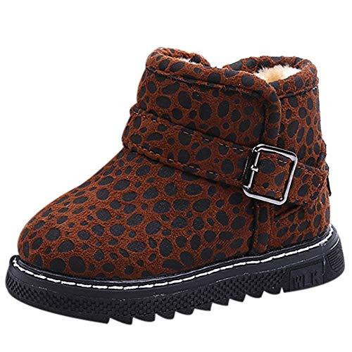 Beikoard Kinderschuhe, Kinder Leopard Plus warme Samt Stiefel -