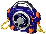 BigBen CD47BL - Reproductor CD (pantalla LED, 200-240 V, con 2 micrófonos incorporados, protegido contra sobrecarga y cortocircuito), azul