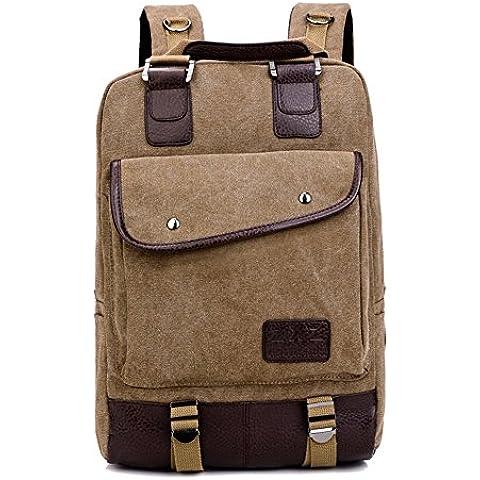 Unisexo Hombre Mujer Clasico Laptop Backpack Rucksack Mochila Escolar para Uso Diario /Escolar/Oficina/viajes/Calle/ Mochila de Senderismo