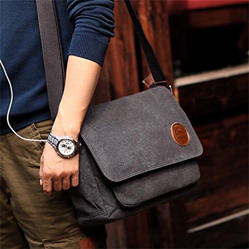 DELLT-Man Tasche Tragetasche für Männer Schultertasche Messenger Bag Freizeitpaket Querschnitt koreanischen Gezeiten- Paket Schulranzen schwarz