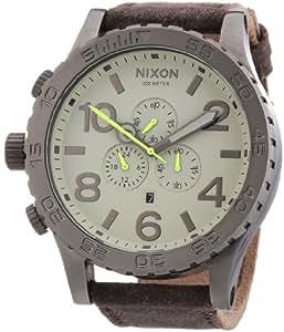 Nixon Unisex-Armbanduhr The 51-30 Chrono Leather Chronograph Quarz Leder A1241388-00