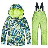 iBâstte Kinder Skianzug Skianzug 2 Teilig Skihose+Skijacke Schneheanzug Schneehose Schneejacke für Mädchen & Jungen
