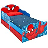 Marvel Spider-Man Light Up Kids Toddler Bed with Underbed Storage by HelloHome