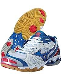 Mizuno - Zapatillas de voleibol de Material Sintético para hombre Blanco White/Blue/Red 47