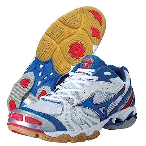 Mizuno , Chaussures spécial volleyball pour homme Blanc Cassé White/Blue/Red 47