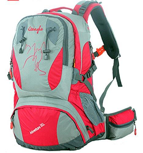 Cinny männliche und weibliche Liebhaber zu Fuß auf Fuß wasserdichte outdoor Bergsteigen Tasche Freizeit Sport-35L Red