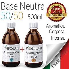 Idea Regalo - KIT BASE NEUTRA NEBULA 500 ML - GLICOLE PROPILENICO + GLICERINA VEGETALE 50VG/50PG