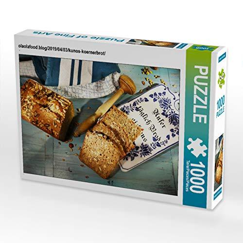 CALVENDO Puzzle olaolafood.blog/2019/04/03/kunos-koernerbrot/ 1000 Teile Lege-Größe 64 x 48 cm Foto-Puzzle Bild von N N