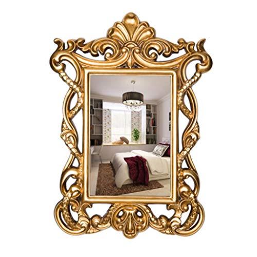 Miroirs De Salle De Bains Mural Européen Haut De Gamme De Salle De Bains Mur Carré De Décoration De Maison Or Rétro De Courtoisie Cadeau De Beauté Amoureuse