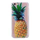 Cozy Hut iPhone 6 Hülle, iPhone 6S Hülle Silikon, iPhone 6 6S Schutzhülle, [Liquid Crystal] 3D Romantik Flower Animal Cartoon Series Transparent Weiche Silikon Malerei Muster Hülle [Kratz