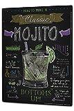 Plaque émaillée Posters Enseignes en métal Panneaux Plaques XXL Rétro Cuisines Limona Mojito cocktail
