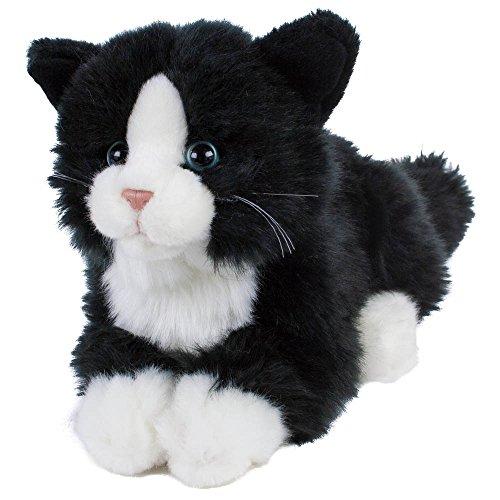 Kuscheltier Katze, Kätzchen, Kater Boots, 22 cm (30 cm mit Schwanz) Plüschtier, Plüschkatze (Braune Katze Ohren)