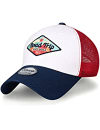 ililily Road Trip Embroidered Snap Back Mesh Trucker Hat Baseball Cap