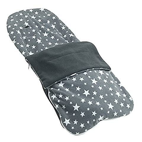 Snuggle Summer Footmuff Compatible With Graco Metrolite - Grey Star