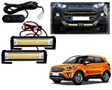 #2: Auto Pearl Premium Quality High Brightness 50 Watt LED Offroad Bumper Light Flasher With 6 Mode Changer Switch For - Hyundai Creta