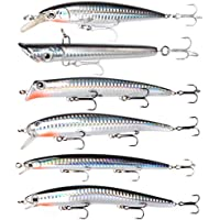"Dr.Fish Carp Fishing Pike Sea Fishing Lure Kit Big Plugs Popper Minnow Crankbait 5"" Mackerel Salmon Cod Sea Bass Sea Trout"