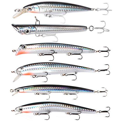Dr.Fish mer pêche leurre Appât Set 6 gros bouchons...