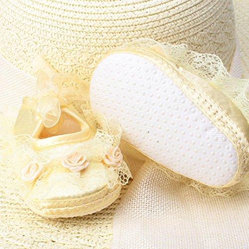 Baby Schuhe, Switchali Lace Princess Soft Sole Kleinkind Schuhe für 0-12 Monat Gelb