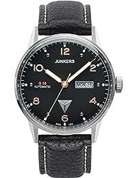 Junkers Herren-Armbanduhr Analog Automatik Leder 69665