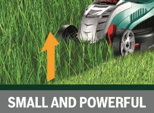 Bosch Rotak 32 LI Ergoflex Cordless Lawn Mower with 36 V Lithium-Ion Battery, Cutting Width 32 cm