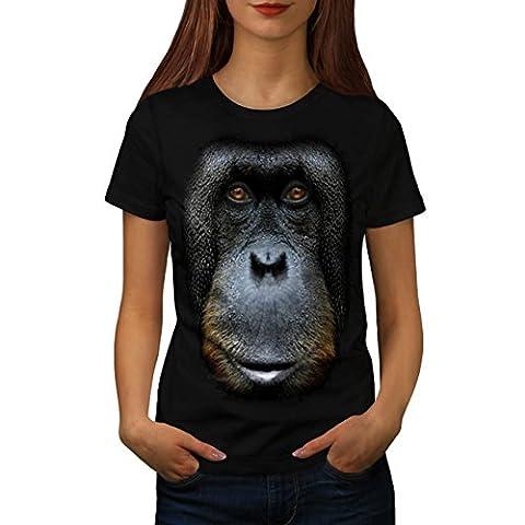 Orang-Utan Gesicht Tier Affe Tier Damen XXL T-shirt | Wellcoda (Jungle Orangutan)