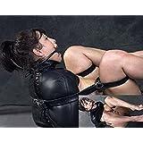 Frauen Leder Zwangsjacke Babydolls BDSMS Kostüm
