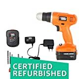 (CERTIFIED REFURBISHED) BLACK+DECKER EPC12K2 12-Volts Cordless Drill (Orange)