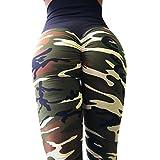 ❤️ Yogahosen Strumpfhose Damen,ABsoar Frauen Tarnung Printed Blumenmuster sexy Yoga Hosen Sporthose Frauen Dünne Fitnesshose Leggings (M, Armee-Grün)