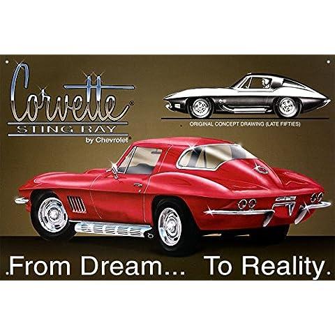 Chevrolet Corvette Stingray - Muestra de la lata, 16 x 11