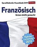 Sprachkalender - Französisch lernen leicht gemacht - Kalender 2019 - Harenberg-Verlag - Tagesabreißkalender - 12,5 cm x 16 cm