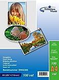 EtikettenWorld - Confezione da 100fogli di carta fotografica lucida e impermeabile, A4,230g/m² lucido impermeabile