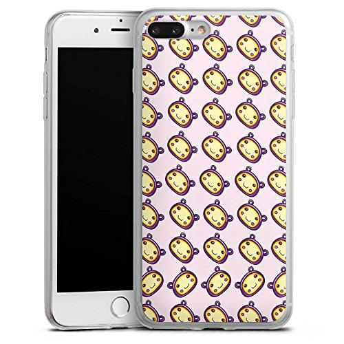Apple iPhone 8 Plus Slim Case Silikon Hülle Schutzhülle Muster Kawaii Manga Silikon Slim Case transparent