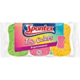 Spontex  Eponges Couleurs  3 Eponges Trio Colors  Lot de 3