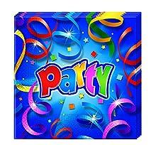 Procos 08805 – Serviettes Papier fête Streamers, Multicolore