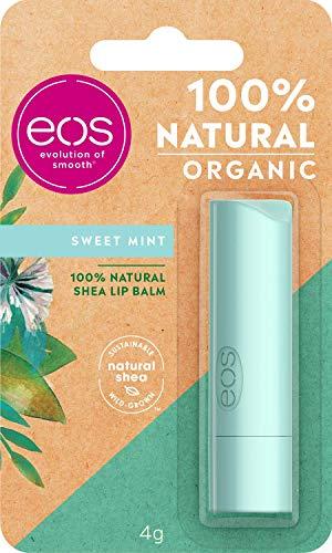 eos Organic Stick Sweet Mint Lip Balm, feuchtigkeitsspendende Lippenpflege, mit frischem Minzgeschmack, für weiche Lippen, mit natürlicher Sheabutter, 7 g -