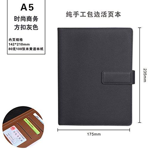 WRITIME Notizbuch grau Lose-Blatt-Notebook Business-Notebook Schreibwaren 6-Loch-Clip Dieses A5-Hand Notebook Tagebuch benutzerdefinierte Logo