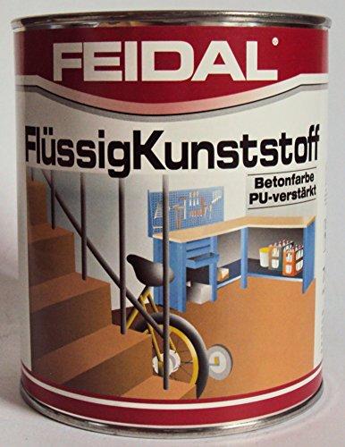 farbe garagenboden Feidal Flüssigkunststoff, zum Versiegeln und Beschichten von Betonböden, Farbton: Anthrazitgrau RAL 7016 / 750 ml