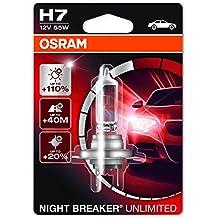 Osram 64210 Night Breaker Unlimited Lámpara Halógena de Faros, PX26d, 58 W, 12 V, Blíster Individual