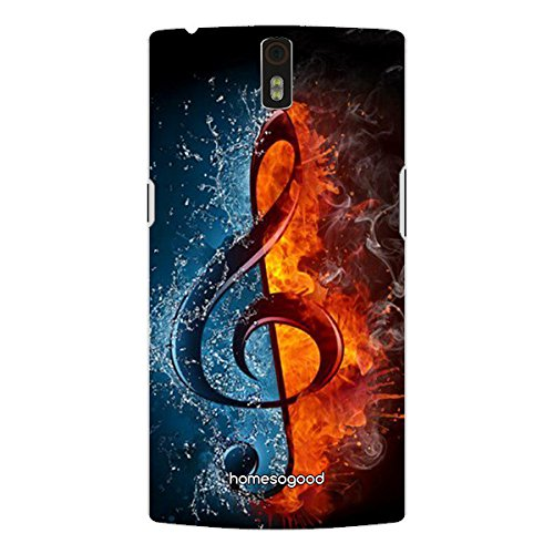 HomeSoGood Hot And Cold Music Multicolor For OnePlus One (Back Cover)