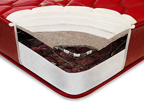 Peps Springkoil 6-inch Bonnell Spring Mattress + 2 Peps Pillows by nufurn ( All sizes available )