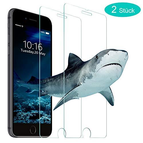 Bodyguard Schutzfolie Panzerglasfolie für iPhone 8 Plus/iPhone 7 Plus [2 Stück], 9H Panzerglas Folie, Anti-Kratzer, Anti-Öl, Bläschenfrei Bildschirmschutzfolie