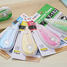 RIANZ 3 Pcs Correction Tape- 6 Meter- Color May Vary