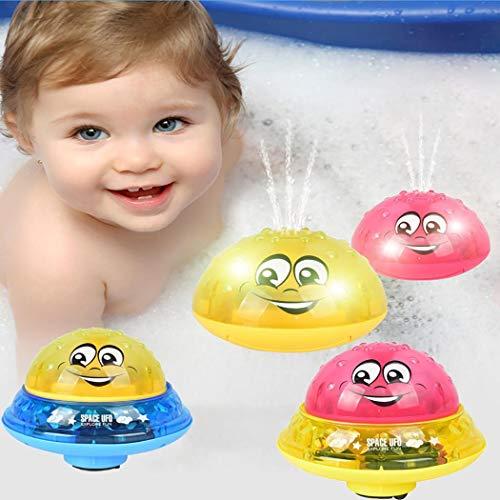 AIMADO Toys-Badespielzeug mit Licht , Spray-Wasser-Krake, Badewanne-Dusche-Pool Badezimmer Spielzeug für Babys Kleinkinder