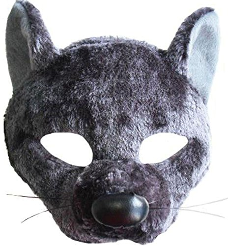 Kinder Verkleidung Kostümparty Animal Buch Woche Sound-effekt Ratte Maske & Stirnband-uk