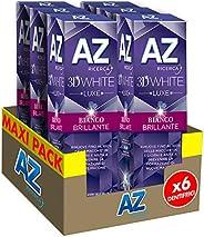 Az Ricerca 3D White Luxe Bianco Brillante con Azione Sbiancante Denti Professionale 6 x 75 ml