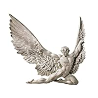 Design Toscano Icarus Winged Man Wall Sculpture, 28 cm, Polyresin, Ancient Ivory