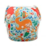 Eco Green Baby - 3 in 1 - Reusable Swim Diaper + Diaper Cover + Training Pants-Mermaid and fishes