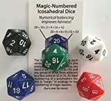 magic-numbered-icosahedral-Dice (Set von 5Truly Fair D20)