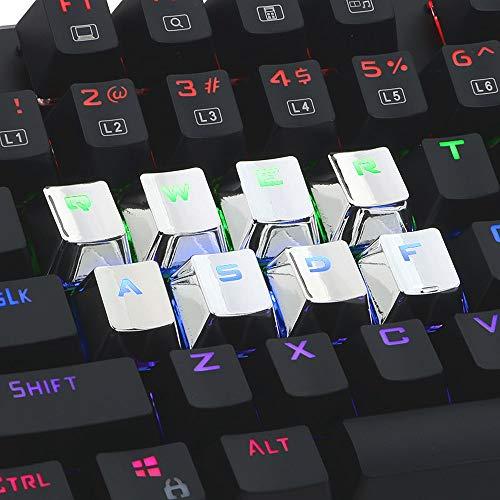 Gaddrt Tastenkappen 12 Tasten PBT Backlit Translucent Metallic Electroplated Keycaps für Cherry MX Keyboard Tastenkappen (White) (Mac Pro Refurbished Desktop)