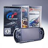 PSP 3004 schwarz mit Gran Turismo + Need for Speed + Ridge Racer (inklusive Ladekabel)